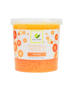 Tea Zone Peach Popping Pearls (7 lbs)