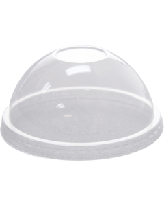 Karat 92mm PET Dome Lids - No Hole - 1,000 ct, C-HDL662-A-NH