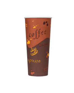 Karat 24oz Paper Hot Cups - Coffee (90mm) - 500 ct, C-K524