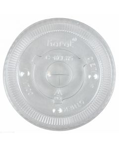 Karat 115mm PET Flat Lids - 1,000 ct