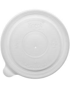Karat 32 oz PP Food Container Flat Lids (115mm) - 500 ct, C-KDL115-PP