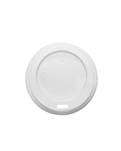 Karat 8oz Sipper Dome Lids - White (80mm) - 1,000 ct, C-KDL508