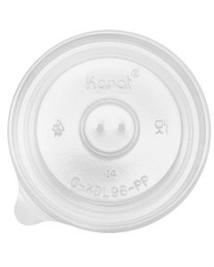 Karat 6/10oz PP Paper and Gourmet Food Container Flat Lids (96mm) - 1,000 ct, C-KDL96-PP