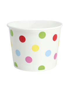 Karat 16oz Food Containers - Dots (112mm) - 1,000 ct
