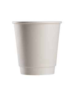 Karat 10oz Insulated Paper Hot Cups - White (90mm) - 500 ct