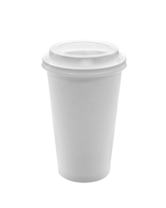 Karat 16oz White Paper Hot Cups and White Sipper Dome Lids (90mm)