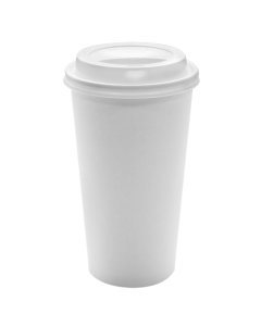 Karat 20oz White Paper Hot Cups and White Sipper Dome Lids (90mm)