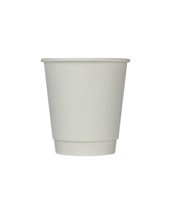 Karat 10oz Wrapped Insulated Paper Hot Cups - White (90mm) - 500 ct, C-WIC510W