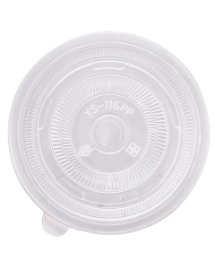 Karat 116mm PP Flat Lids - 1,200 ct, C3003
