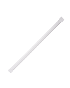 Karat 7.75'' Clear Straws (5mm) Paper Wrapper - 12000 ct