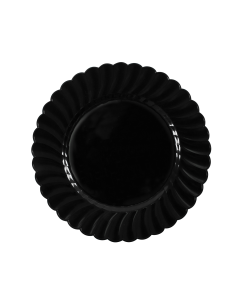 "Karat 7"" PS Scalloped Plate - Black - 240 ct, CS-PS07B"