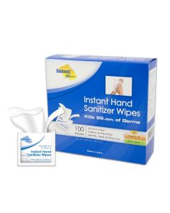 """Diamond Wipes 5' x 8"""" Instant Hand Sanitizing Wipes - Individually Wrapped & Boxed"""
