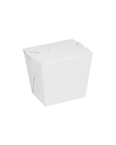 Karat 16oz Food Pail / Paper Take-out Container - White - 450 ct