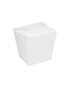 Karat 26oz Food Pail / Paper Take-out Container - White - 450 ct, FP-FP26W