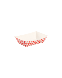 Karat Food Tray - Shepherd's Check (Red) - 2.0 lb
