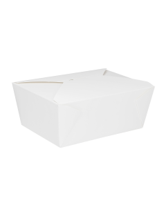 Karat 110 fl oz Fold-To-Go Box #4 - White - 160 ct