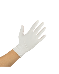 Karat Latex Powder-Free Gloves (Clear) - Medium - 1,000 ct, FP-GL1017