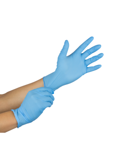 Karat Nitrile Powder-Free Gloves (Blue) - Medium - 100 ct