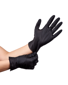 Karat Nitrile Powder-Free Gloves (Black) - Small - 100 ct