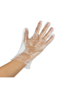 Karat Poly Gloves (Clear) Distributor Pack- Large - 10,000 ct