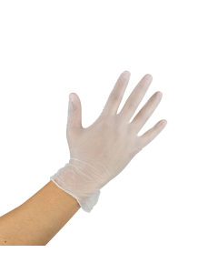 Karat Vinyl Powder-Free Gloves (Clear) - Medium - 1,000 ct
