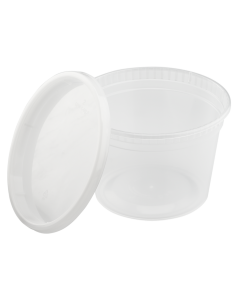 Karat 16oz PP Injection Molded Deli Containers & Lids - 240 ct