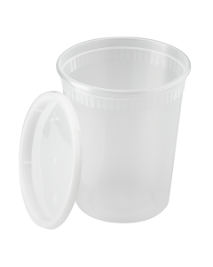 Karat 32oz PP Injection Molded Deli Containers & Lids - 240 ct