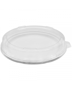 "Karat PET Dome Lid for 9"" Bagasse Plates - 200 ct"