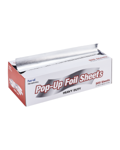 "Karat 10.75"" x 12"" Heavy-Duty Pop-up Aluminum Foil Sheets, FW-AFS101"