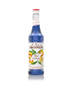 Monin Blue Curacao Syrup (750mL), H-Blue Curacao