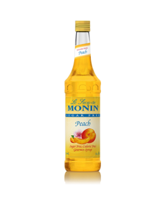 Monin Sugar Free Peach Syrup (750mL), H-Peach-sf