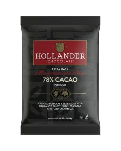Hollander Masterpiece Base 78% Cacao Extra Dark Cocoa Powder (1.5 lbs), J-Cacao, Extra Dark-p