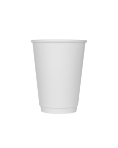 Karat 12oz Insulated Paper Hot Cups - White (90mm) - 500 ct