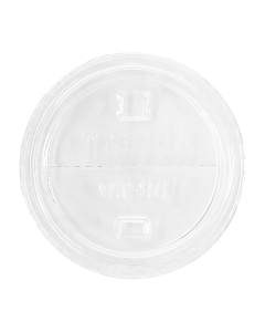 Karat 98mm PET Dome Lids - Half Moon Flip Lids - 1,000 ct