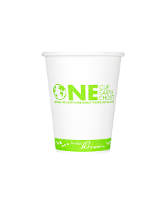Karat Earth 12oz Eco-Friendly Paper Hot Cups - One Cup, One Earth (90mm) - 1,000 ct