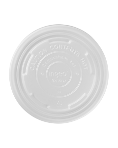 Karat Earth 12-16oz Compostable Paper Food Container Flat Lids (114.6mm) - 500 ct