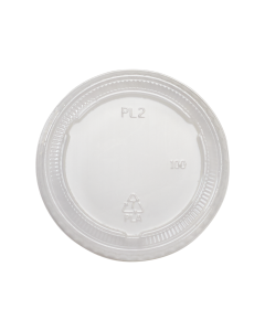 Karat Earth 2 oz./4 oz. PLA Portion Cup Lids - Clear - 2,000 ct