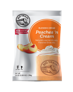 Big Train Peaches 'N Cream Blended Creme Frappe Mix (3.5 lbs), P6004