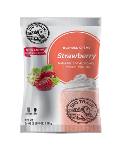 Big Train Strawberry Blended Creme Frappe Mix (3.5 lbs), P6018