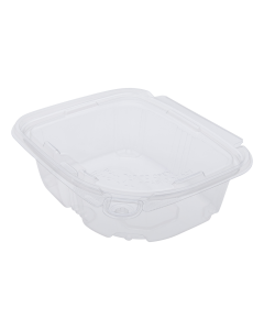 Karat 12oz PET Tamper Resistant Hinged Deli Container with Lid - 200 ct
