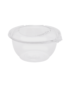 Karat 32oz PET Tamper Resistant Hinged Salad Bowl with Dome Lid - 240 sets