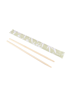 "Karat 9"" Paper Wrapped Bamboo Chopsticks - Bamboo, U9000"