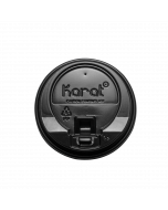 Karat 10-24oz Enclosure Lids - Black (90mm) - 1,000 ct