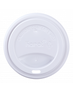 Karat 10-24 oz. Sipper Dome Lid - White (90mm) - 1,000 ct