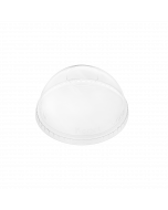 Karat 98mm PET Dome Lids - No Hole - 1,000 ct
