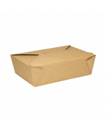 Karat 76 fl oz Fold-To-Go Box #3 - Kraft - 200 ct