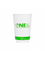 Karat Earth 16 oz. Eco-Friendly Insulated Paper Hot Cups - One Cup, One Earth - 90mm - 500 ct