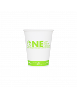 Karat Earth 8oz Eco-Friendly Paper Hot Cups - One Cup, One Earth (80mm) - 1,000 ct, KE-K508