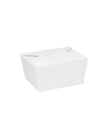 Karat 30 fl oz. Fold-To-Go Box #1 - White - 450 ct
