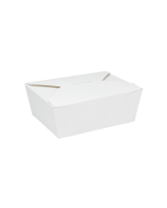 Karat 48 fl oz Fold-To-Go Box #8 - White - 300 ct
